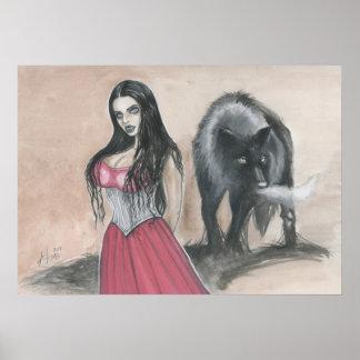 Vamp and Wolf Print