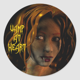 Vamp at Heart Stickers