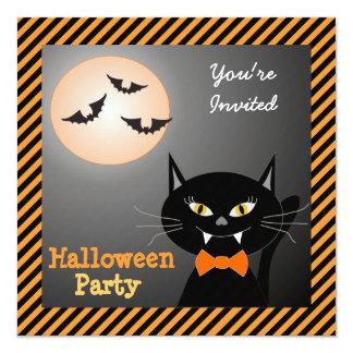 Vamp Cat Halloween Party Invitation
