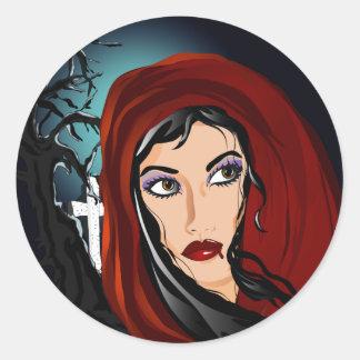 Vamp Classic Round Sticker
