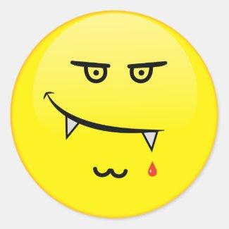 Vamp Emoji Classic Round Sticker