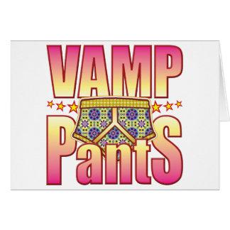 Vamp Flowery Pants Greeting Cards