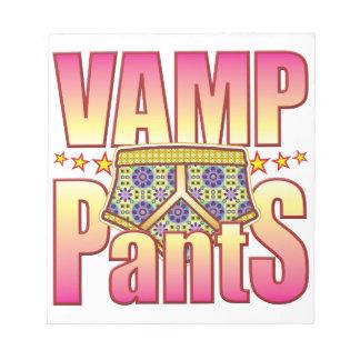 Vamp Flowery Pants Note Pad