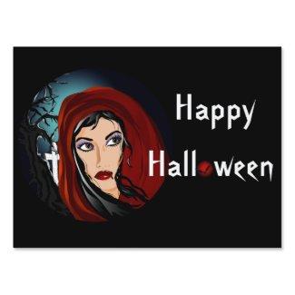 Vamp Halloween Yard Sign