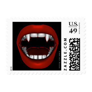 Vamp Mouth Design Postage