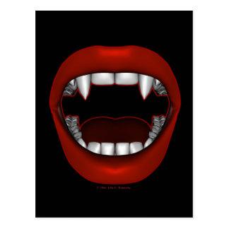 Vamp Mouth Design Postcard