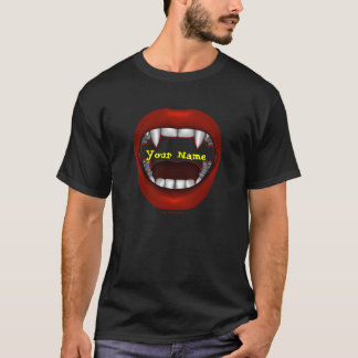 Vamp Mouth Design Shirts