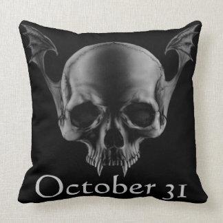 Vamp Skull Black Pillow