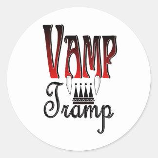 Vamp Tramp Groupie Classic Round Sticker