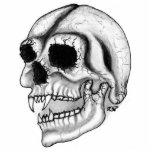 Vampir skull black and white design foto ausschnitt