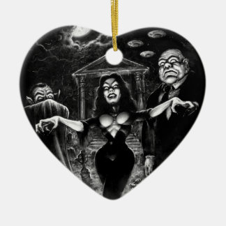 Vampira Plan 9 zombies Ceramic Ornament