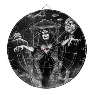 Vampira Plan 9 zombies Dartboard With Darts