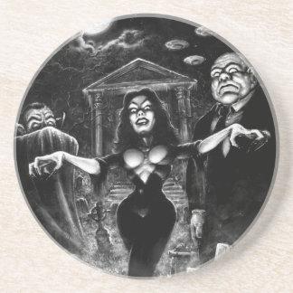 Vampira Plan 9 zombies Drink Coaster