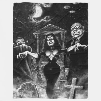 Vampira Plan 9 zombies Fleece Blanket