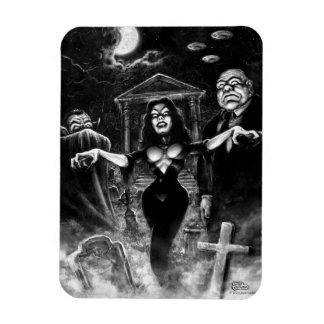Vampira Plan 9 zombies Rectangular Photo Magnet