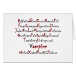 Vampire Alphabet Greeting Cards