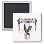 Vampire American 2 Inch Square Magnet