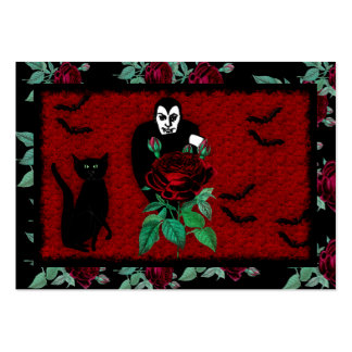 Vampire and Cat Large Business Cards (Pack Of 100)