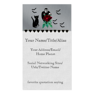 Vampire and Cat Double-Sided Standard Business Cards (Pack Of 100)