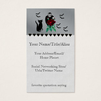 Vampire and Cat Business Card