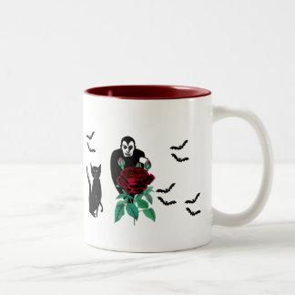 Vampire and Cat Two-Tone Coffee Mug