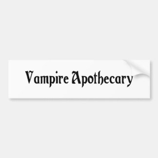 Vampire Apothecary Bumper Sticker
