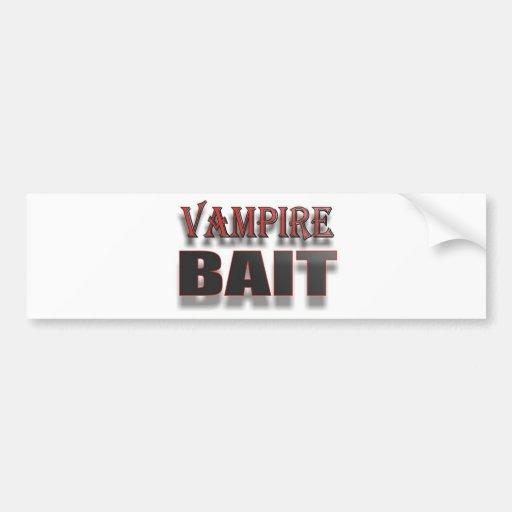 VAMPIRE BAIT CAR BUMPER STICKER
