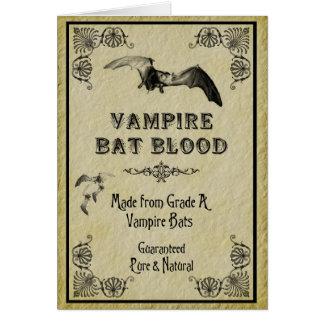 Vampire Bat Blood Halloween Card