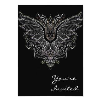 Vampire bat Halloween birthday invitation