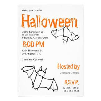 Vampire Bat Halloween Party Invitation