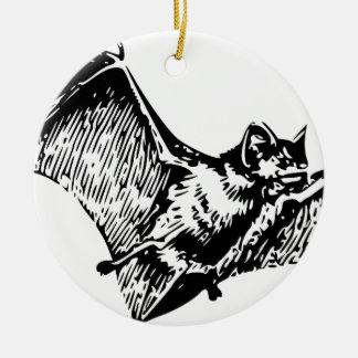Vampire Bat in Flight Ceramic Ornament