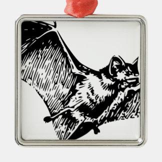 Vampire Bat in Flight Metal Ornament