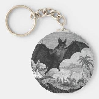 Vampire Bat Basic Round Button Keychain