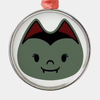 Vampire Bat Kids Metal Ornament
