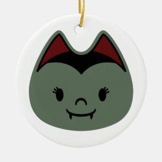 Vampire Bat Kids Double-Sided Ceramic Round Christmas Ornament