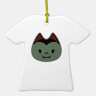 Vampire Bat Kids Double-Sided T-Shirt Ceramic Christmas Ornament