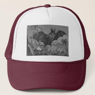 Vampire Bat Lithograph Faded Trucker Hat