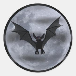 Vampire Bat Moon Stickers