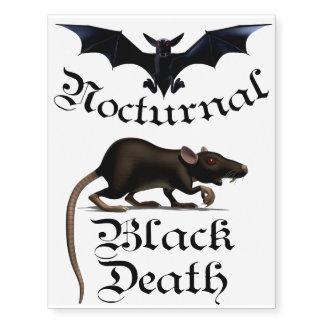 Vampire Bat & Plague Rat Temporary Tattoos