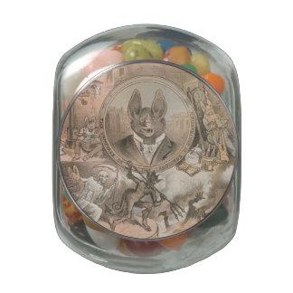 Vampire Bat Portrait Glass Jar