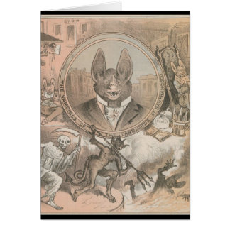 Vampire Bat Portrait Card