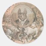 Vampire Bat Portrait Classic Round Sticker