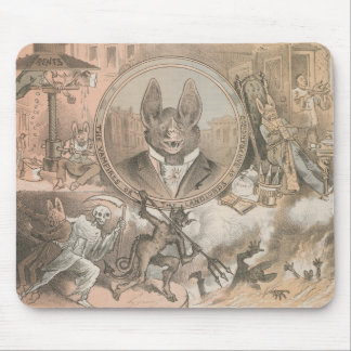 Vampire Bat Portrait Mouse Pad