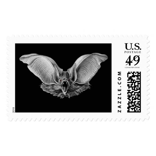 Vampire ? Bat ? Postage Stamp