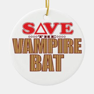 Vampire Bat Save Ceramic Ornament