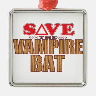 Vampire Bat Save Metal Ornament