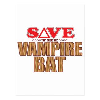 Vampire Bat Save Postcard
