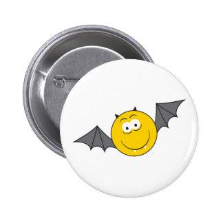 Vampire Bat  Smiley Face Button