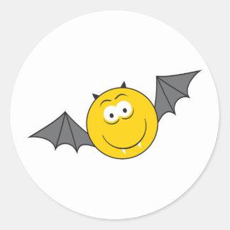 Vampire Bat  Smiley Face Stickers