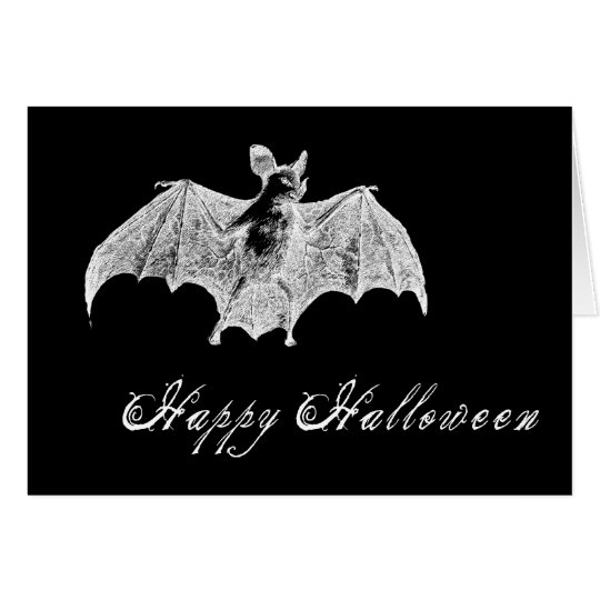Vampire Bat Wishes Card